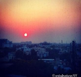 sunset photo copy