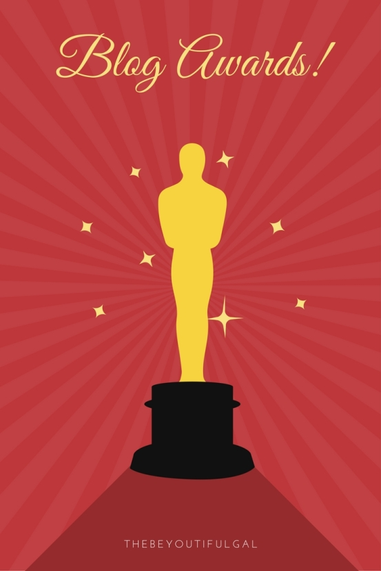 Dark Teal Trophy and Stars Academy Awards Pinterest Graphic